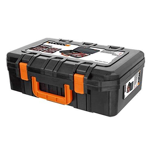WORX WA0071 Werkzeugkoffer aus robustem Kunststoff - für das sichere Verstauen aller Werkzeuge & Zubehör - Koffer ohne Werkzeug