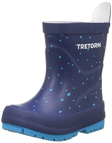 Tretorn Sticky Dots, Bottes mi-hauteur non doublées garçon Bleu - Blau (Blue 085)