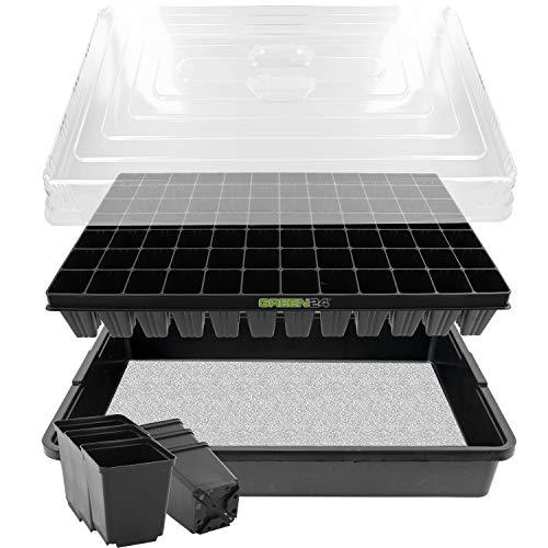 GREEN24 Anzucht-System 84WT Zimmer-Gewächshaus XXL Profi mit automatischer Bewässerung für die...