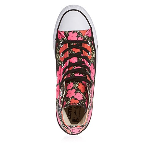 Converse Womens Chuck Taylor Hi Poppy Textile Trainers pink