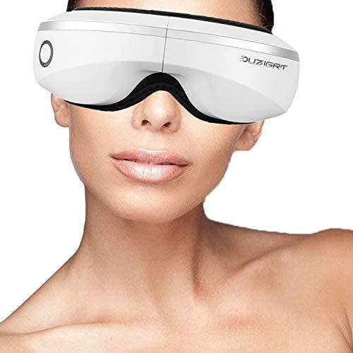 Elektrisches Augenmassagegerät mit Hitzekompression, Vibrationsluftdruck zur Linderung von Ermüdung der Augen, Schmerzen, trockene Augen, Kopfschmerzen, Nebenhöhlenschmerzen, Augenringe