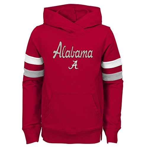 NCAA Alabama Crimson Tide Youth Girls Claim to Fame Overlay Hoodie, Youth Girls X-Large(16), Victory Red Overlay-pullover Hoodie
