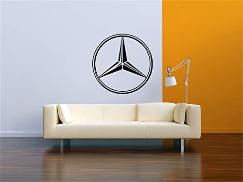 wandaufkleber fliesen Mercedes Logo Garage Wandtattoo Vinyl Aufkleber Wandbild
