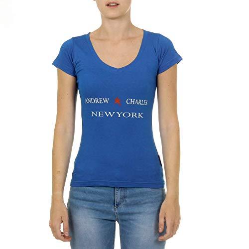 Andrew Charles By Andy Hilfiger Frauen T-Shirt mit kurzen Ärmeln V-Ausschnitt Tapiwa
