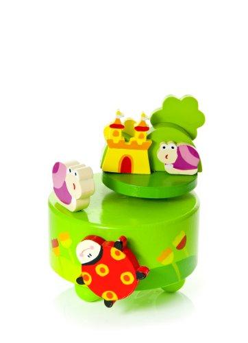 Mousehouse Gifts Marienkäfer und Schmetterlingsspieluhr Spieluhr Holz spielt Old MacDonald Had a Farm