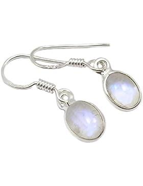 Mondstein Ohrringe Sterling-Silber 925 Länge: 2,5 cm