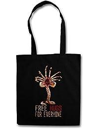Urban Backwoods Free Hugs FOR Everyone Bolsas de la Compra Reutilizables - Facehugger Xénomorphes Promethues Ripley