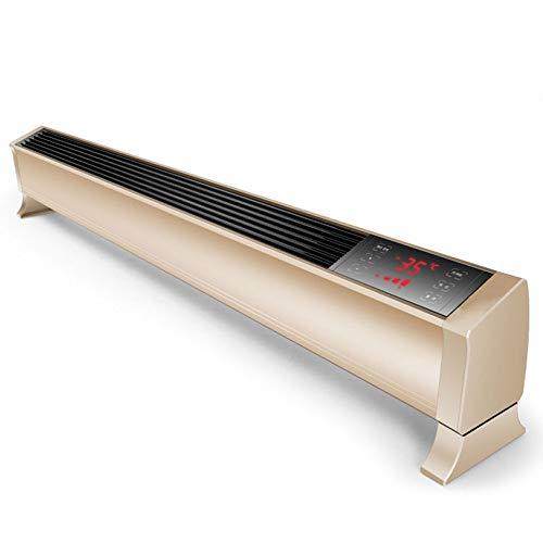 Elektrische Heizlüfter Konvektor Heizung 2500 Watt Thermostat Tragbare Freistehende Timer Fernbedienung Sicherheit Abgeschnitten,White-1.2meters