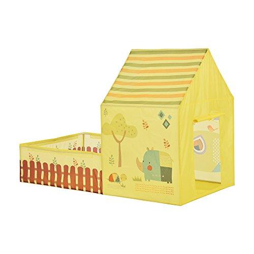 [casa.pro]® Carpa para niños para jugar 115 x 156 x 90 cm Tienda de campaña para niños Cabaña con jardín