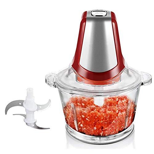 AGYE Mini-Zerkleinerer, Elektrisch Universalzerkleinerer, Multizerkleinerer Mit 304 Edelstahl-Messer, 1.8L Glasbehälter BPA Frei-Gemüsemühle