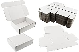 25 x white shipping boxes postal mailing gift wedding. Black Bedroom Furniture Sets. Home Design Ideas