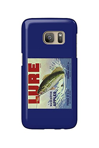 Oroville, Washington - Fishing Lure Brand Apple Label (Galaxy S7 Cell Phone Case, Slim Barely There)