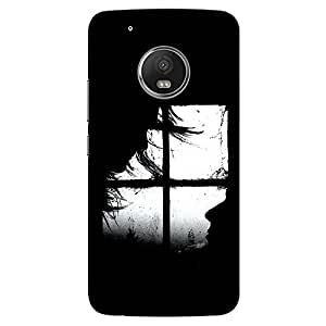 CrazyInk Premium 3D Back Cover for Moto G5 - Silhoutee Love