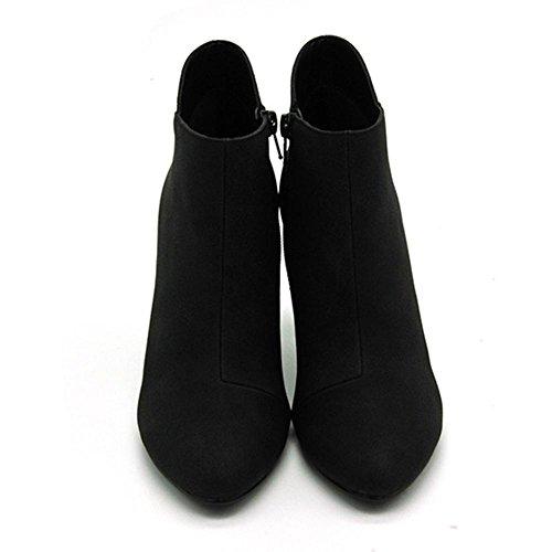 Donna stivale il nuovo, Stivaletti di gomma fine slittata indossare impermeabile , Assorbimento degli urti, lato cerniera moda Grezzo con Stivaletti Black