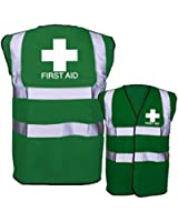 First Aid Hi Vis Vest - Green - High Visibility - EN471 - 1st Emergency 0077