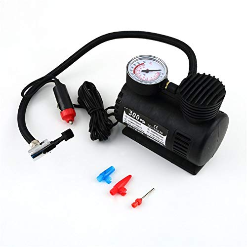 Preisvergleich Produktbild ningbao551 Black Portable Versatile 12V 300PSI Car Tire Tyre Inflator Pump Mini Compact Compressor Pump Car Bike Tyre Air Inflator