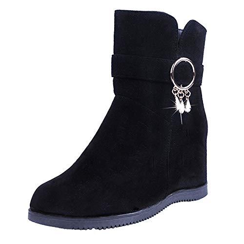 Low Wedge Boot (Stiefel Damen, LANSKIRT Wedges Low Zipper Middle Tube Stiefeletten Halbschaft Stiefel Plateau Blockabsatz Knöchelhohe Stiefel Boot Sandalen Sneakers Schuhe)