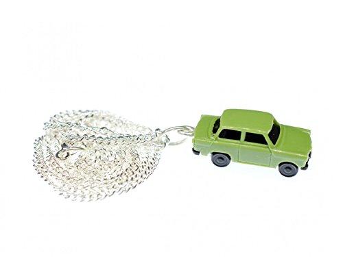 Miniblings Trabi Kette Halskette 45 cm Miniatur Auto Trabant Fahrzeug Pkw grün