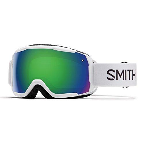 Smith Kinder Grom Skibrille, Grün Sol-X Mirror/Weiß, One Size