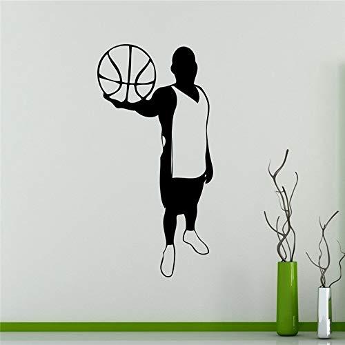 ber Neymar Wand Vinyl Aufkleber Basketball Spieler Silhouette Aufkleber Sport Home Interior Wandbilder Haushaltswaren Grafiken M34 117 x 58 cm ()