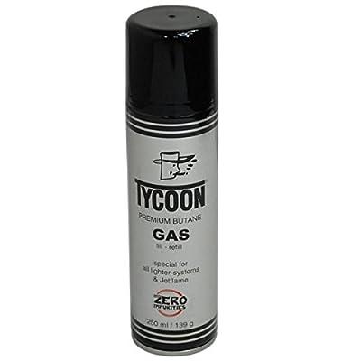 Premium Feuerzeuggas Gas Butangas Nachfülldose 250ml Dose perfekt geeignet für Feuerzeuge , Gaskocher , Zelten , Brenner , Lötkolben , Heizung , lötlampen , Camping , Ofen , Kocher , Flambierer , Unkrautbrenner , Gasgrill , Heizung , Haushaltsgeräte