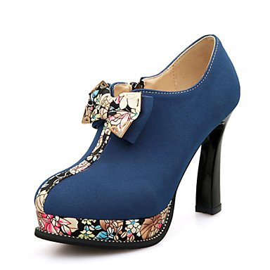 WSX&PLM Da donna-Tacchi-Tempo libero Ufficio e lavoro Casual-Club Shoes-Quadrato-Finta pelle-Nero Blu Verde green