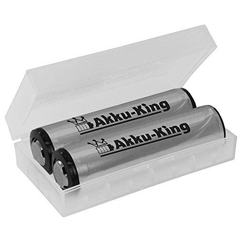 Akku für Fenix TK15 TK35, Zweibrüder Led Lenser M7R, P7R, NITECORE MH 25 - ersetzt CR123A, RCR123A, 18650 - Li-Ion 2600mAh - 2er Pack - Akku-King