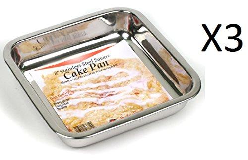 Norpro 20,3cm quadratisch Pfanne Edelstahl Kuchen/Brownie/Desserts Handwäsche