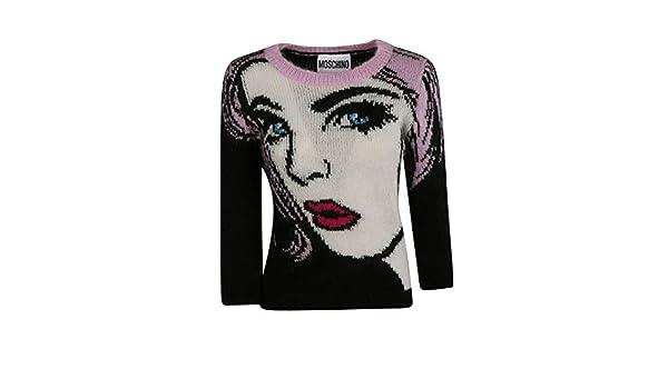 Moschino Maglione Donna A090654021555 Lana Multicolor  Amazon.it   Abbigliamento 178ca2946a4