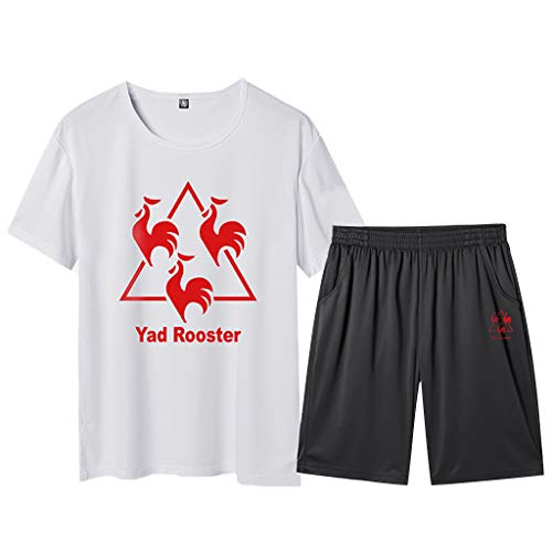 ODRD Hot Herren Weste Vest T-Shirts Frühling Sommer Herren Sommer Freizeit Mode Druck Kurzarm Shorts Fitness Sport Sets Lässige Top...