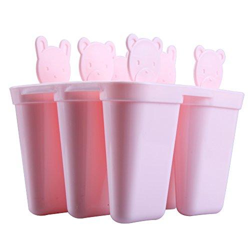 Tomone EIS Lolly Formen Set, hausgemachte EIS Popsicle Formen für Kinder und Erwachsene DIY Frozen Ice Cream Mould 6 Gitter tragen geformte Tiermuster FDA genehmigt BPA frei - ()