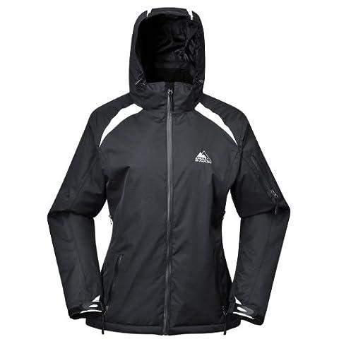 COX SWAIN TITANIUM women 2-layer ski- snowboard functional jacket GALAXY with Recco, Colour: black/white, Size: