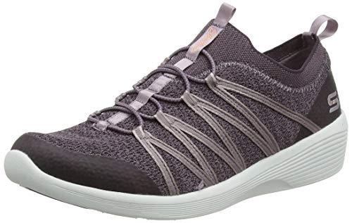 Skechers Arya, Zapatillas sin Cordones para Mujer, Morado Plum Mesh/Hot Melt/White Trim Plum, 37 EU...