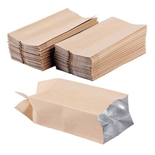 (5 * 11cm) 100 Stück Papierbeutel Papiertüten Aluminumfolie Kraftpapierbeutel Kraftpapiertüten...