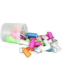 Amigozz Tag Label Keychain(Assorted) - Pack Of 50