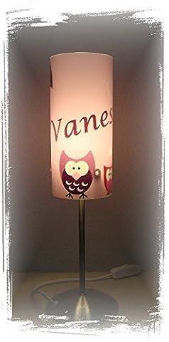 Lampe Tischlampe Schlummerlampe Nachttischlampe individuell mit Namen, Eule