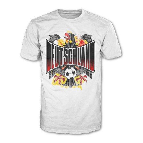 Deutschland Weltmeister 2014 Fanartikel WM Fanshirt T-Shirt Herren Shirt Fußball 90´s Comic 20464 (L) (World-cup-champions Italien)