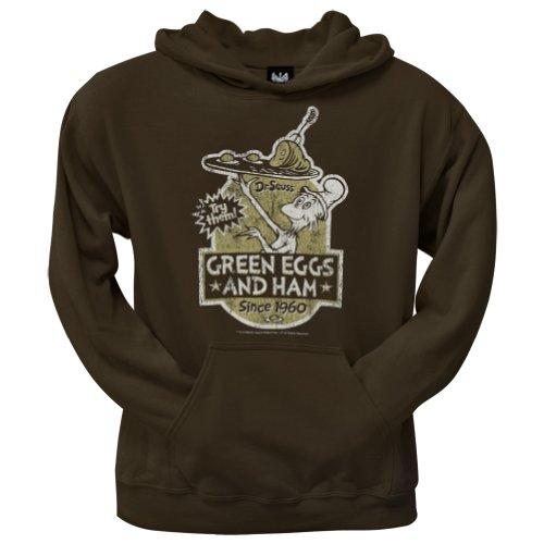 Dr. Seuss–Herren grün Eier Label Hoodie Gr. X-Large, braun