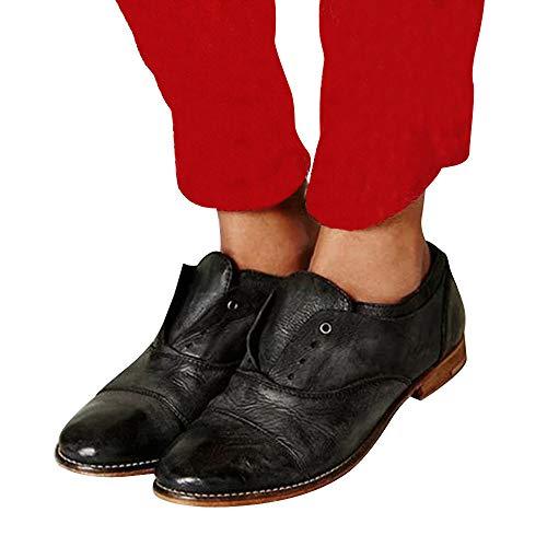 UOMOGO Scarpe Moda da Donna, dell'Annata delle Donne Pelle Fibbie Stivali da Equitazione Artificiale A metà Polpaccio Booties Moto