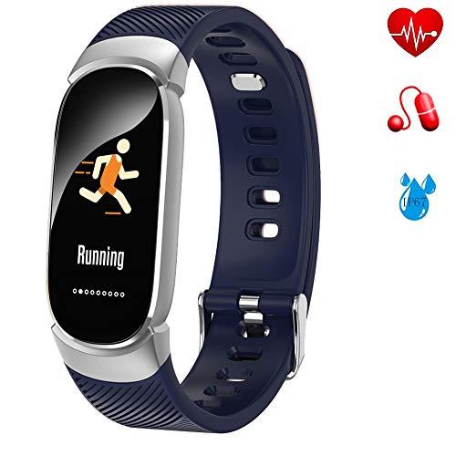 LIGE Fitness Trackers,Intelligentes Armband mit Pulsmesser, IP67 Wasserdicht Aktivitäts Tracker mit Schlafmonitor, Schrittzähler Uhr für Damen Herren Kinder,Für iOS Android - Smart Der Basketball Sensor