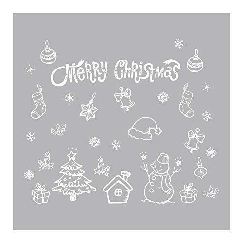 Preisvergleich Produktbild YouN Frohe Weihnachten Schneeflocke Wandaufkleber Home Showcase Windows Decals Decor