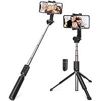 Perche Selfie Trépied avec Télécommande, BlitzWolf 90cm Selfie Baton Extensible Poche Bluetooth Selfie Stick pour iPhone X/8/8 Plus/7/7 Plus/6/6s Plus, Samsung S9/S9 Plus/S8/S8 Plus/S7/S6, Android Smartphone(Nouvelle Version)