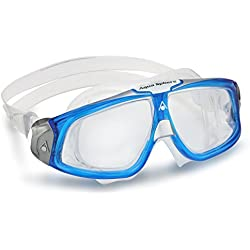 Aqua Sphere Unisex Adult Seal 2.0 Swimming Mask, Blue/Silver (Clear Lens), One Size