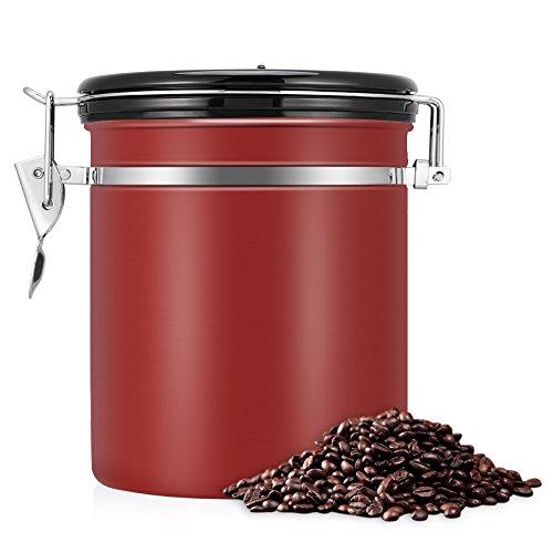 kaffeedose,vorratsdosen luftdicht,kaffeedose luftdicht, Kaffeedose Edelstahl, Kaffeebehälter...