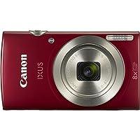 Canon IXUS 175 Kompaktkamera (20 Megapixel, 8-fach optischer Zoom, 16-fach ZoomPlus, 6,8 cm (2,7 Zoll) LCD, Taschenformat) rot