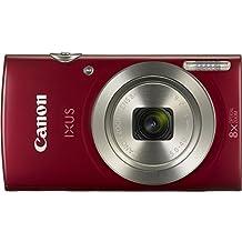 """Canon IXUS 175 - Cámara digital compacta de 20 Mp (pantalla de 2,7"""", zoom óptico de 8x, estabilizador digital), color rojo"""