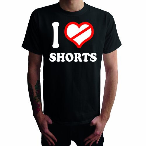 I don't love Shorts Herren T-Shirt Schwarz