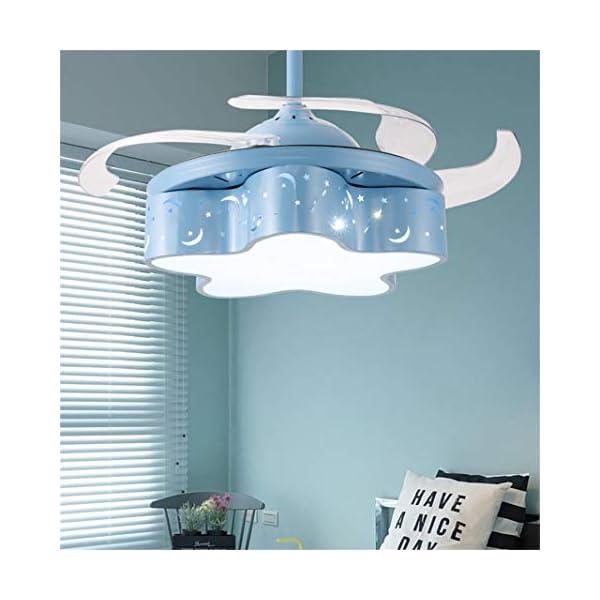 Ventilador-elctrico-Lmina-del-Ventilador-Invisible-Sala-de-Princesa-Araa-de-Ventiladores-Vientos-mltiples-Adecuada-for-la-Sala-de-Estar-del-Dormitorio