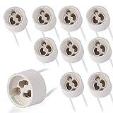 10x GU10 Fassung Sockel Keramik mit Qualitäts Silikonkabel- GU10 Fassung (240V) für LED und Halogen