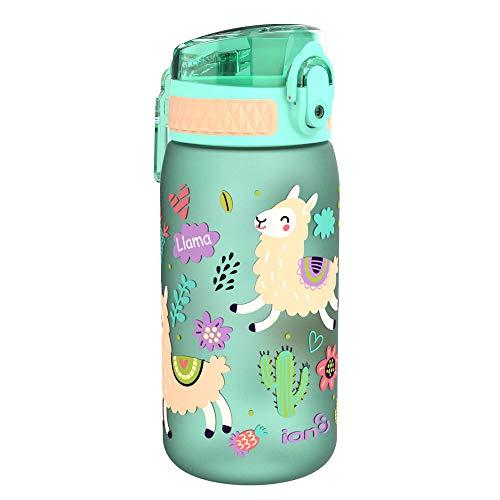 ion8 auslaufsichere Kinder Wasserflasche/Trinkflasche, BPA-frei, 350ml / 12oz, Lamas